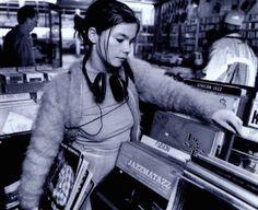 Bjork, record shopping