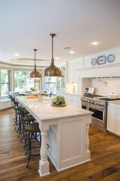 The Redesign Offers Generous Amounts Of Prep Space, Storage And Barstool  Seating At The Island. #Kitchens
