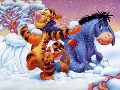 Winnie the Pooh, Tigger Wallpaper Wallpapers of Tigger Tigger 26839 - Winnie The Pooh Wallpaper Tigger Vista Wallpaper. Whinnie The Pooh Drawings, Winne The Pooh, Disney Winnie The Pooh, Baby Disney, Mickey Mouse Wallpaper, Disney Wallpaper, Christmas Mood, Disney Christmas, Christmas Countdown