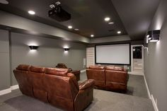 Home movie theater - traditional - Home Theater - Dc Metro - MARK IV Builders, Inc