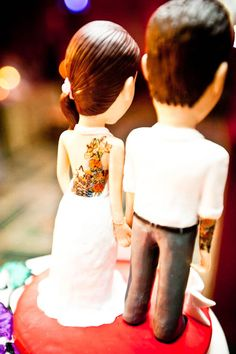 Rock & Roll Bride Tattoo theme #5 Cake toppers