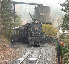 Take a ride on the historic train at  Dollywood.  Pigeon Forge  Tennessee