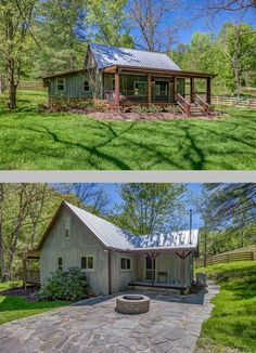 Located in the sleepy little town of Leiper's Fork, Tennessee, 30 miles southwest of Nashville, this charming cabin features an airy, modern interior. Open floor plan of 1100sf, 2 bdrms, 1 bath on 10 acres - idyllic vacation rental through Shelter + Roost : http://www.shelterandroost.com/nest/