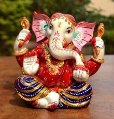 Statue Ganesha Ganesh Hindu Lord God Religious Idol Success Sculpture Gift Deco