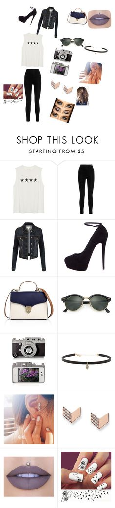 """Untitled #98"" by fergie2004 ❤ liked on Polyvore featuring Balmain, LE3NO, Giuseppe Zanotti, Aspinal of London, Ray-Ban, Carbon & Hyde, FOSSIL and Jeffree Star"