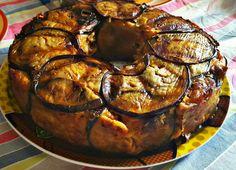 Pasta al forno foderata con melanzane fritte