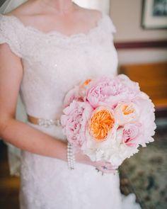 peony + garden rose bouquet | Rachel May #wedding