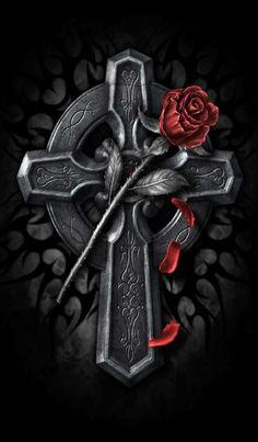 Gothic and Fantasy - Gothique et Fantasy Dark Gothic, Gothic Art, Gothic Beauty, Santa Muerte, Gothic Images, Dark Images, Steampunk, Victorian, Cross Wallpaper