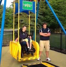 Safe wheelchair swings
