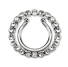 Circle Multi Paved Gem Clip On Nipple Ring, Non Piercing Nipple Ring Body Piercing, Piercings, Gem Clip, Lip Jewelry, Nipple Rings, Nose Stud, Cuff Earrings, Gems, Engagement Rings