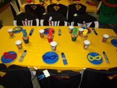 Marvel Superheroes party idea for Andrews 4th bday