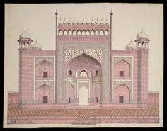 Titel   Entrance gateway to the Taj Mahal, Agra 1763 | Artist : Anonymous…