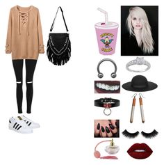 """""""Sem título #258"""" by evillrainbow ❤ liked on Polyvore featuring Topshop, adidas, Beauty Secrets, Modern Bride, Lipsy and Lime Crime"""