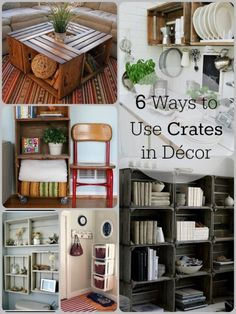 6 Ways to Use Crates in Decor | Tipsaholic.com #diy #home #storage #crates