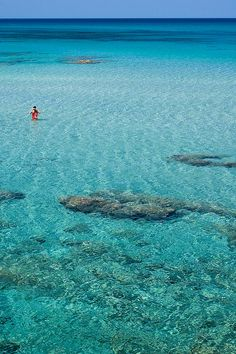 Turquoise see in Sardinia, Italy