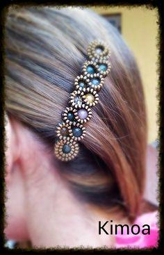 Best 12 Embroidery Jewelry – How to Make Blue Seed Bead Embroidery Rose Bangle Bracelets – Slideit. Diy Jewelry Rings, Wire Jewelry, Beaded Jewelry, Jewelery, Handmade Jewelry, Jewelry Making, Beaded Bracelets, Zipper Jewelry, Fabric Jewelry