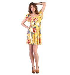 Abito floreale con cintura giallo - D&G - Dolce & Gabbana € 68,00   per scoprire dove acquistarlo a questo prezzo guarda il post sul mio blog http://lechatgourmandbyalixia.blogspot.com/2012/02/waiting-for-spring-alixia-choice-04.html