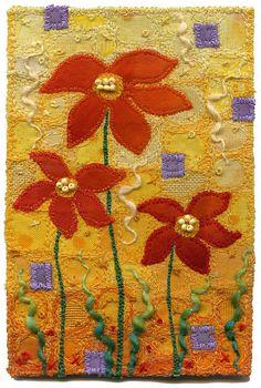 Kirsten's Fabric Art - Tangerine Garden