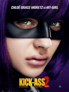 A new poster for Chloe Grace Moretz as Hit-Girl in Kick Ass 2 has been released online today along with a new international trailer. Kick-Ass 2 is being directed by Jeff Wadlow and stars Aaron Taylor… Jim Carrey, Chloë Grace Moretz, 2 Movie, Love Movie, Clint Eastwood, Hit Girls, Star Trek, The Lone Ranger, Indie