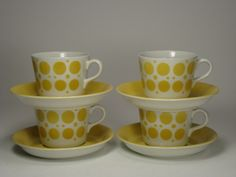 Dining Area, Kitchen Dining, Kitchenware, Tableware, Scandinavian Style, Finland, Retro Vintage, Tea Cups, Pottery