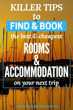How to Find and Book the Best & Cheapest Accommodation for your Travels - tips for all kinds of accommodation from Airbnb to hostels to airport seats! Backpacking Tips, Packing Tips For Travel, Budget Travel, Travel Guides, Work Travel, Business Travel, Asia Travel, Travel Wall, Cheap Accommodation