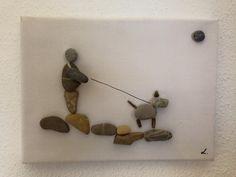 """Bilderrahmen - Steinbild auf Leinwand """" Tierliebe"""" """" - ein Designerstück von Vanessa_Link bei DaWanda"""