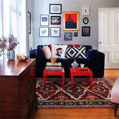 A Warm SF Home with a Rock 'n Roll Twist. (via Design Sponge)
