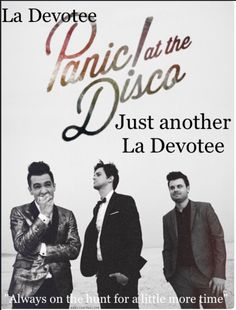 LA DEVOTEE PANIC AT THE DISCO  YES THIS IS GREAT