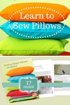 Sewing Stylish Pillows is a free PDF guide available exclusively on Craftsy, featuring 17 pages of tips and tutorials from expert sewers. Download it instantly for free and enjoy it forever in the comfort of your own home or even on the go!