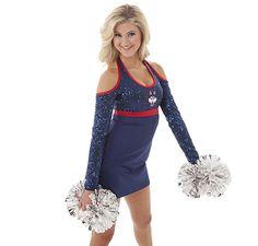 UCONN uniforms- gorgeous! Cheer Pom Poms, Dance Uniforms, Dance Outfits, Dance Costumes, Cheerleading, Life, Tops, Women, Fashion