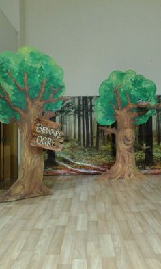 Thermocol cut out trees. Props created for the school production of Shrek for School of Knowledge. Sharjah. Gwyneth Rasquinha https://m.facebook.com/sliceofserenity/photos/?mt_nav=1