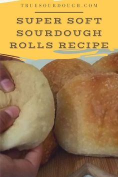 These sourdough bread rolls are super soft, tasty and delicious. They are same day soft rolls that are an easy recipe which is also no knead. You can easily replace the white flour with whole wheat flour to make an even more healthy recipe. #truesourdough #sourdough #bread #fermentation #healthyrecipe Sourdough Dinner Rolls, Sourdough Starter Discard Recipe, Sourdough Bread Starter, Sourdough Recipes, Bread Recipes, Cooking Recipes, Sourdough Rolls Recipe No Yeast, Starter Recipes, Recipe Breadmaker
