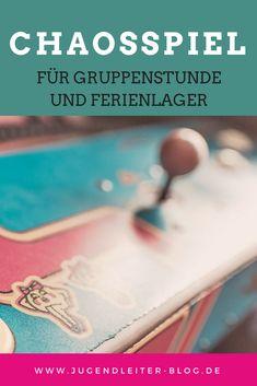 Anleitung zum Chaosspiel - die großen Aufgabenspiel für Gruppenstunde und Ferienlager. Ideal für die Jugendarbeit, den Jugendtreff und das Zeltlager.