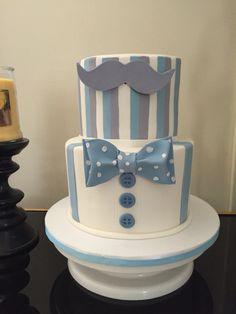 Baby shower. Cake bow tie mustache theme