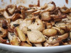 Roast Oyster Mushrooms with Garlic