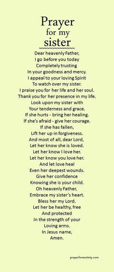 Prayer for sisters