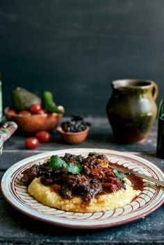 Mexican Braised Beef Cheeks with Soft Cheesy Polenta I From the Kitchen                                                                                                                                                                                 More