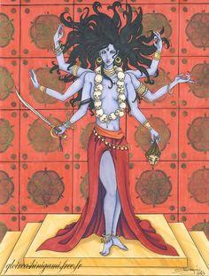 DeviantArt: More Like KaLi by mrkillabee Indian Goddess Kali, Durga Goddess, Indian Gods, Indian Art, Mother Kali, Mother Goddess, Atlantis, Vishnu Hinduism, Kali Tattoo