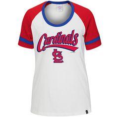 St. Louis Cardinals Women's Missy Armband T-Shirt by 5th & Ocean - MLB.com Shop