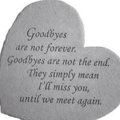 Saying goodbyes to a sister is a tough one-Tạm biệt không phải là mãi mãi. Tạm…