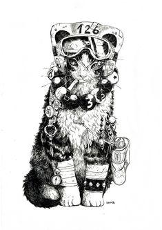 https://www.behance.net/gallery/32091307/Cat-Rider