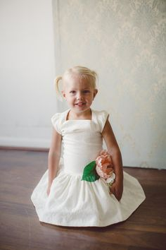 Emily Ivory Flower Dress by Bennair on Etsy
