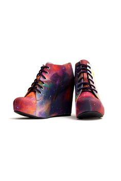 Jeffrey Campbell + Black Milk Rainbow Galaxy