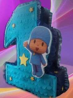 Pocoyo-Number-One-Pinata-party-kids-games-supplies-fiesta-boys-girl-Nice-NEW
