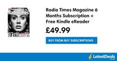 Radio Times Magazine 6 Months Subscription + Free Kindle eReader, at Buy Subscriptions Radio Times Magazine, Real People, 6 Months, Kindle, Tv, Film, Stuff To Buy, Movie, 6 Mo