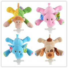 Cute Educational Baby Toys Animal Cute pacifier small animals to appease dolls plush toys doll newborn Boy Girl Baby Rattle toys