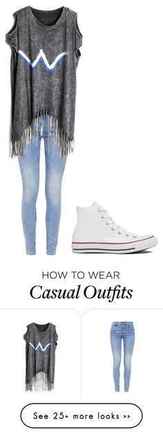 """Casual"" by saraha19 on Polyvore featuring G-Star and Converse"