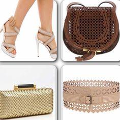 #Trendalert: los accesorios perforados son la prenda perfecta para lusar esta temporada. #moda #fashion #fashionable #perforated #accesories #summer #sandals #cluth #handbag #belt #trendy #musthave #swagger #swagg #latinoamerica #miami #chloe #bcbg #Padgram