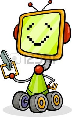 Buy cartoon robot or droid illustration by izakowski on PhotoDune. Cartoon Illustration of Happy Robot or Droid with Micro Chip or Microprocessor Wall Art Prints, Canvas Prints, Kids Room Wall Art, Wall Art For Sale, Robot Art, Funny, Art For Kids, Canvas Art, Stock Photos