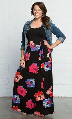 Curvalicious Clothes :: New Arrivals :: Celine Chiffon Maxi Skirt